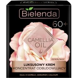 Bielenda CAMELLIA OIL // Luksusowy Krem Koncentrat Odbudowujacy 60+ // dzien/noc // olej z kamelii, ceramidy, calcium