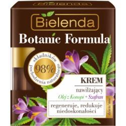 Bielenda BOTANIC FORMULA // Krem Nawilzajacy olej z konopi + szafran // 98% skladnikow pochodzenia naturalnego // regeneruje