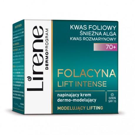 Lirene FOLACYNA LIFT INTENSE 70+ // Napinajacy Krem Dermo-modelujacy // dzien SPF15 // kwas foliowy i rozmarynowy, sniezna alga