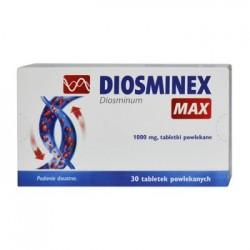 DIOSMINEX MAX // tabletki powlekane 30szt - 1000mg // niewydolnosc krazenia, uczucie ciezkosci nog, bol nog, nocne kurcze