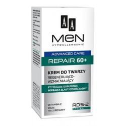 AA MEN Advanced Care REPAIR 60+ // krem do twarzy Regenerujaco-Wzmacniajacy // stymuluje odbudowe, poprawia elastycznosc skory