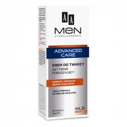 AA MEN Advanced Care // krem do twarzy Aktywnie Pobudzajacy // nawilza i redukuje oznaki zmeczenia // lekka formula
