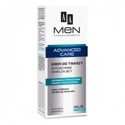 AA MEN Advanced Care // krem do twarzy Intensywnie Nawilzajacy // zapobiega przesuszeniu, lagodzi podraznienia
