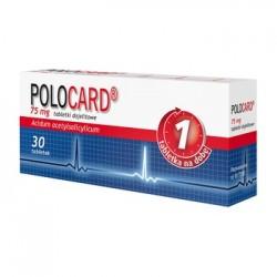 POLOCARD 75mg // tabletki dojelitowe - 30 sztuk // 1 tabletka na dobe