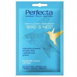 Perfecta BIRD'S NEST // Azjatycka Maska na Twarz, Szyje i Dekolt // rozswietlenie, lifting // kwas salicylowy, aminokwasy
