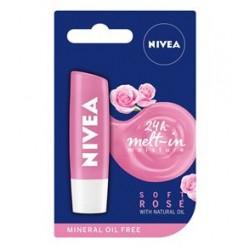 NIVEA SOFT ROSE // Pielegnujaca pomadka do ust // Pielegnuje i podkresla piekno ust