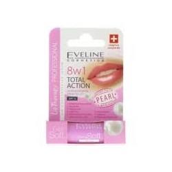 Eveline 8w1 TOTAL ACTION Skoncentrowane Serum do Ust // SPF15 // perlowy polysk + wygladzenie