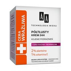 AA Cera Wrazliwa /Krem Poltusty 24h do cery suchej i normalnej // Kojenie podraznien // 2%alantoina, 1% witamina E