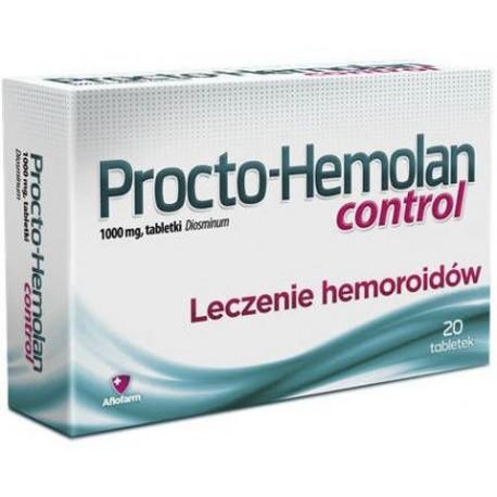 Procto-Hemolan CONTROL // 20 tabletek // 1000mg