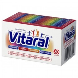 VITARAL Zestaw witamin i Skladnikow Mineralnych // witalnosc, energia, odpornosc, koncentracja // 30 tabletek