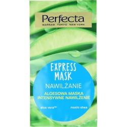 Perfecta EXPRESS MASK Mezo Nawilzanie MASECZKA Ampulka Hialuronowa / sok aloesowy+multi kwas hialuronowy / kazdy rodzaj cery