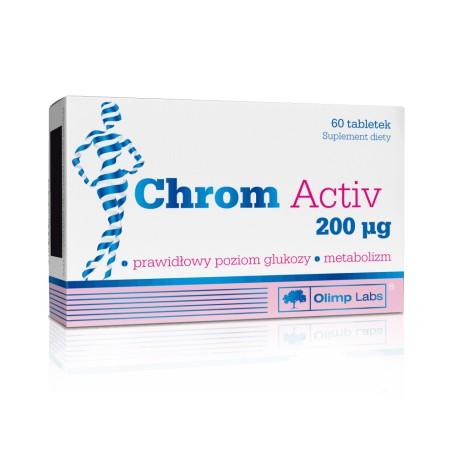 CHROM Activ // mniejsze laknienie cukrow, prawidlowy poziom glukozy, metabolizm // 60 tabletek
