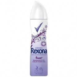 REXONA Women Long Lasting Protection / HAPPY Fragrance collection  with Violet & Apple / Anti-perspirant 48h active, 0% alcohol