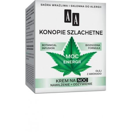 AA Botanical Infusion 30+ KONOPIE SZLACHETNE - MOC ENERGII // krem na noc // nawilzenie + odzywienie