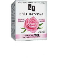 AA Botanical Infusion 60+ ROZA JAPONSKA - MOC LIFTINGU // krem na noc // odzywienie + nawilzenie