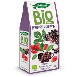 Bio Herbatka DZIKA ROZA i CZARNY BEZ // ekologiczna herbatka owocowo-ziolowa Herbapol // 100g