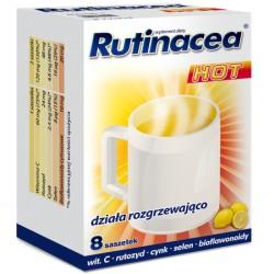 RUTINACEA HOT // dziala rozgrzewajaco // wit.C, rutozyd, cynk, bioflawonoidy // 8 saszetek