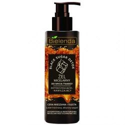 Bielenda BLACK SUGAR DETOX // Zel Micelarny do mycia twarzy detoksykujaco-nawilzajacy // cera mieszana i tlusta