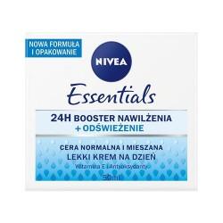 NIVEA / Odswiezajacy krem nawilzajacy na dzien cera normalna i mieszana / Zapewnia glebokie nawilzenie / Witamina E i Hydra IQ