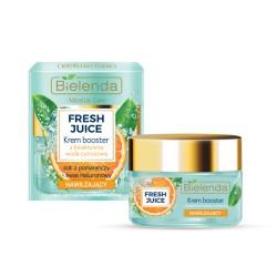 Bielenda Fresh Juice NAWILZAJACY Krem Booster z bioaktywna woda cytrusowa + pomarancza // cera normalna, sucha, wrazliwa // 50ml