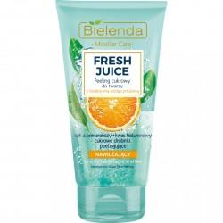 Bielenda Fresh Juice NAWILZAJACY Peeling Cukrowy do twarzy z bioaktywna woda cytrusowa // cera normalna, sucha, wrazliwa