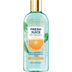 Bielenda Fresh Juice NAWILZAJACY Plyn Micelarny z bioaktywna woda cytrusowa + pomarancza // cera normalna, sucha, wrazliwa