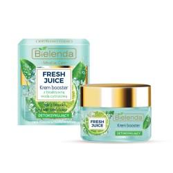 Bielenda Fresh Juice DETOKSYKUJACY Krem Booster z bioaktywna woda cytrusowa + limonka // cera mieszana, tlusta, wrazliwa // 50ml