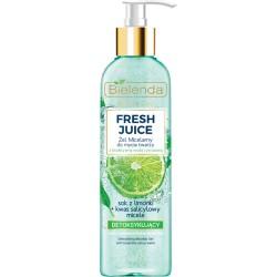 Bielenda Fresh Juice DETOKSYKUJACY Zel Micelarny do mycia twarzy z bioaktywna woda cytrusowa // cera mieszana, tlusta, wrazliwa