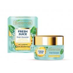 Bielenda Fresh Juice ROZSWIETLAJACY Krem Booster z bioaktywna woda cytrusowa + ananas // cera pozbawiona blasku // 50ml