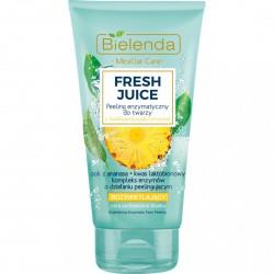 Bielenda Fresh Juice ROZSWIETLAJACY Peeling Enzymatyczny do twarzy z bioaktywna woda cytrusowa ananas // cera pozbawiona blasku