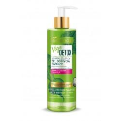 Bielenda VEGE DETOX // Normalizujący żel do mycia twarzy  JARMUŻ + BURAK + PREBIOTYK //  cera zanieczyszczona mieszana