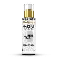 Bielenda Make-up academie // LUMIRE BASE nawilzajaca baza pod makijaz // Efekt rozswietlenia