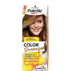 Palette COLOR SHAMPOO 317  Orzechowy Blond 7-554 //  with ARGAN  OIL //  NO AMONIA