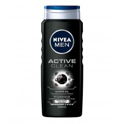 NIVEA MEN ACTIVE CLEAN ŻEL POD PRYSZNIC // 250 ml.