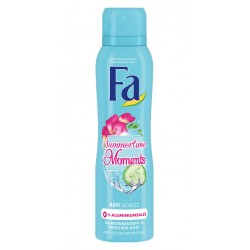 FA  SUMMERTIME MOMENTS DEODORANT SPRAY // 48h protection // Cucumber water, Freesia scent // No aluminium salt//  150 ml