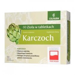Karczoch  Ziola w tabletkach //  wspomaga uklad pokarmowy, watrobe oraz  prawidlowy poziom cholesterolu // 30 tab.