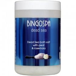 BingoSpa Sól z Morza Martwego z borowiną i rozmarynem // do kąpieli solankowych, yacuzzi i okładów //  1000 g