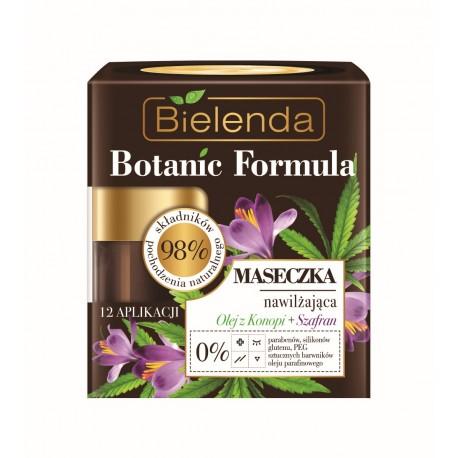 Bielenda BOTANIC FORMULA //  Maseczka nawilżająca Olej z Konopi + Szafran // 98 % skladnikow naturalnych  0% parabenow, silikonu