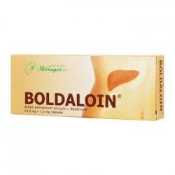 BOLDALOIN  Aloes extractum siccum + Boldinum  (wyciag z aloesu + boldyna) // lek na zaburzenia trawienia, zaparcia // 30 tab