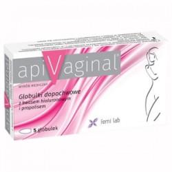 ApiVaginal globulki dopochwowoe z kwasem hialuronowym i propolisem // 5 globulek