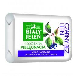 BIALY JELEN Hipoalergiczne mydlo naturalne Z CZARNYM BZEM I LNEM // Bez alergenow i sztucznych barwnikow
