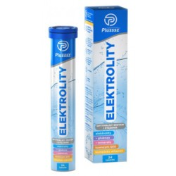 Plusssz ELEKTROLITY // Optymalny zestaw i stezenie // glukoza, mineraly, koemzym Q10, kompleks witamin // 24 tabletki