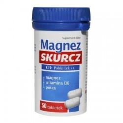 Magnez SKURCZ // magnez, potas, witamina B6 // 50 tabletek // Polski Lek S.A.