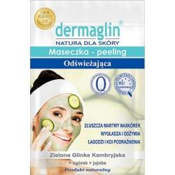 Dermaglin MASECZKA-PEELING Odswiezajaca // zielona glinka kambryjska + ogorek + jojoba // 20g
