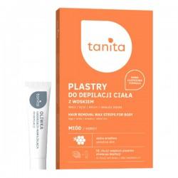 tanita PLASTRY Z WOSKIEM do depilacji ciala MIOD + oliwka po depilacji // skora wrazliwa  // 12 plastrow (6x2)
