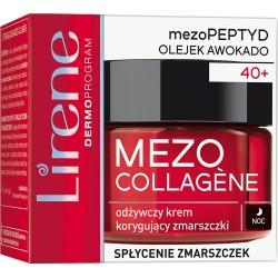Lirene MEZO COLLAGENE 40+ // Odzywczy Krem Korygujacy Zmarszczki // splycenie zmarszczek // noc // 50ml