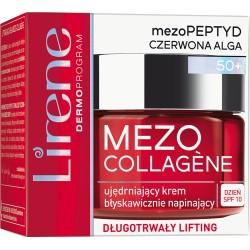 Lirene MEZO COLLAGENE 50+ // Ujedrniajacy Krem Blyskawicznie Napinajacy na dzien - SPF 10 // dlugotrwaly lifting // 50ml