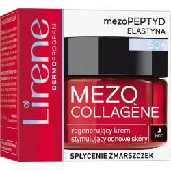 Lirene MEZO COLLAGENE 50+ // Regenerujacy Krem Stymulujacy Odnowe Skory na noc // splycenie zmarszczek // 50ml