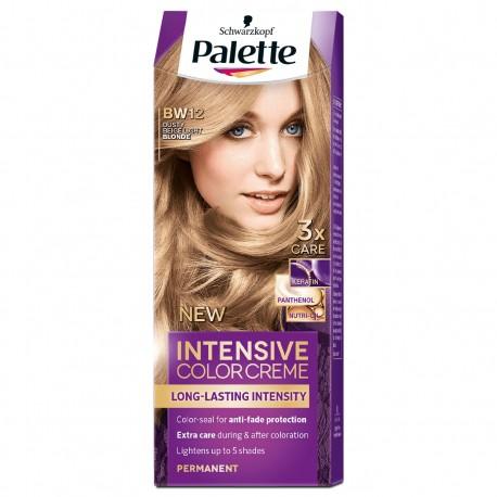 PALETTE INTENSIVE COLOR BW12 Jasny blond Nude // dluga intensywnosc koloru // 3 x ochrona: keratyna, panthenol, nutri-oil