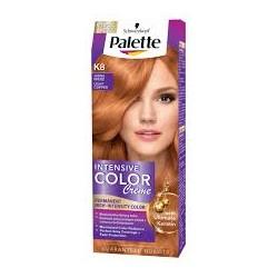 PALETTE INTENSIVE COLOR CREAM K8 Jasna Miedz // Maksymalnie lsniacy kolor, 100% pokrycia siwych wlosow